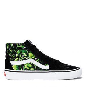 vans-sk8-hi-supreme-green-skull-pile