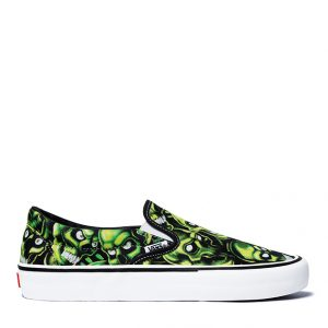 vans-slip-on-supreme-green-skull-pile